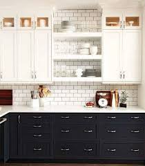 inspiring two toned kitchen cabinets with two toned kitchen