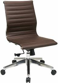 brown leather armless desk chair office chairs for less desk task office chairs contemporary