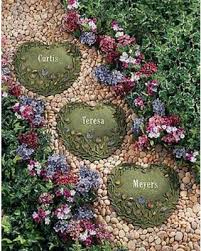 personalized garden stones find the best deals on personalized heart shaped tulip stepping