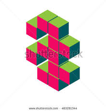 isometric pixel letter a 3d letter stock vector 444839047