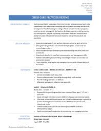 Sample Resume Objectives Psychology by Child Care Provider Resume Sample Resume For Your Job Application