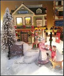 snow village halloween christmas village my fairyality
