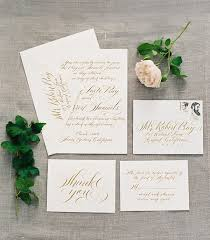 white and gold wedding invitations white and gold wedding