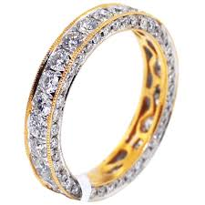 gold eternity rings womens completely diamond eternity ring band 14k gold 2 36 ct