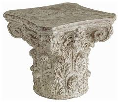 Greek Pedestal Athena Cast Greek Capital Accent Table Traditional Side Tables