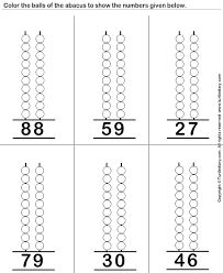 abacus maths worksheetsnumbers 1 20 worksheets for kindergarten