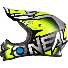 o neal 3 series radium 2017 yellow grey motocross helmet