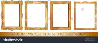 set gold photo frame corner thailand stock vector 489879037 set of gold photo frame with corner thailand line floral for picture vector design decoration