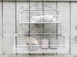 wandregal küche wandregal basket gross drahtkorb metall aufbewahrung vintage