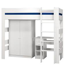 High Bed Frames High Sleeper Bed Frames Pine Frame With Play Space