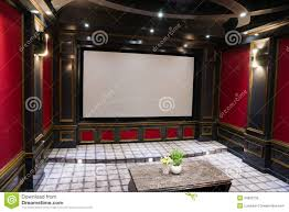 home theater stage luxury home theater stock photography image 34802792