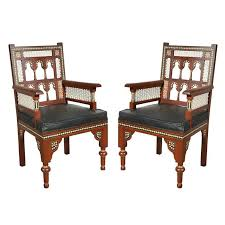 Moroccan Chair Pair Of Moroccan Moorish Armchairs For Sale At 1stdibs