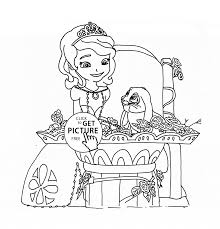 clover and princess sofia coloring page for girls disney for kids