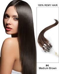24 inch hair extensions inch micro loop human hair extensions 4 medium brown 50g