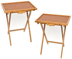 Tv Tray Table Bamboo Tv Trays Set Of 2 Tv Trays Snack Tables