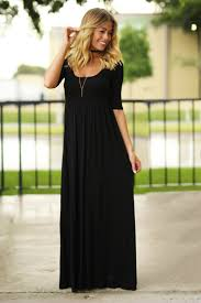 black maxi dress black maxi dress with 3 4 sleeves black dress casual maxi