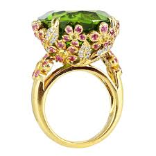 gold rings unique images Unique peridot sapphire diamond gold ring at 1stdibs jpeg
