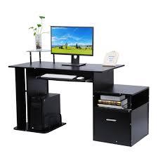 bureau informatique avec rangement bureau informatique moderne table d ordinateur avec étagère de