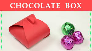 diy gift box how to make a small paper box for chocolate gift