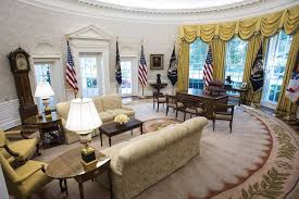 trump oval office redecoration the white house west wing has a brand new look architectural digest