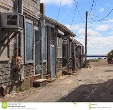 provincetown massachusetts cape cod beach shacks stock photo