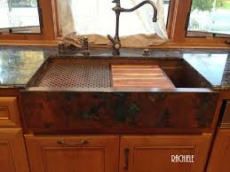 copper apron front sink copper apron front sink new farmhouse sinks hand crafted and custom