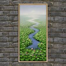 original oil painting landscape painting water lily painting