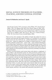 Resume For A Teaching Job by Social Science Theories On Teachers Teaching And Educational