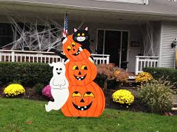 halloween outdoor wood decoration