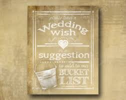 Wedding Wishes List Bucket List Wedding Bucket List Sign Bucket List Journal