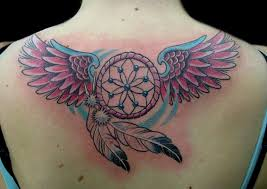 black butterfly and dreamcatcher on back