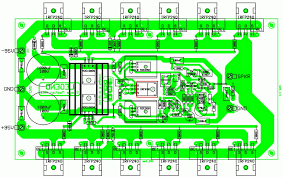 layout pcb inverter power amplifier circuit diagram with pcb layout hp photosmart printer