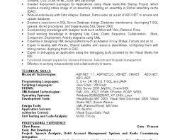 Sample Resume For C Net Developer by Iphone Programmer Sample Resume Media Assistant Sample Resume Asp