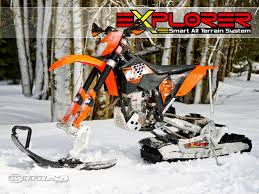snow motocross bike explorer snow bike photos motorcycle usa
