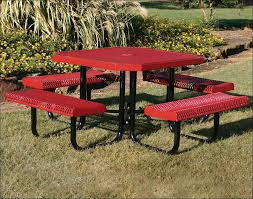 exteriors blue picnic table round wooden picnic bench picnic