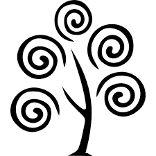 tree with spirals icons free