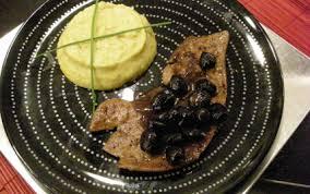cuisiner du foie de veau recette foie de veau aux olives et sa purée de topinambours 750g