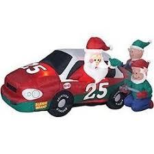 gemmy airblown stock car santa