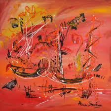 Tableau Abstrait Rouge Et Gris by Tableau Tableaux Moderne Et Contemporain D U0027artiste Peintre