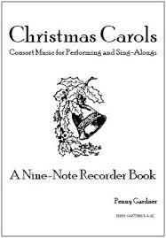 carols for consort sing along nine note recorder