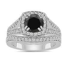 Black Diamond Wedding Ring Sets by Black Diamond Wedding Ring Ebay