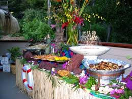 creative buffet table ideas middle eastern island fusion asian