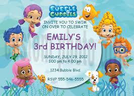 birthday invites best new idea bubble guppies birthday