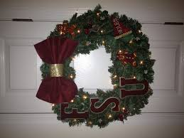 florida state christmas wreath i made for the tallahassee senior