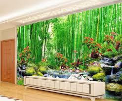 bluxury european modern amboo forest fairyland tv wall decoration 52