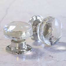 Glass Door Knobs Faceted Glass Internal Turning Mortice Door Knobs By Pushka Home