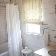 Gray Ruffle Shower Curtain Ruffled Shower Curtain Design Ideas