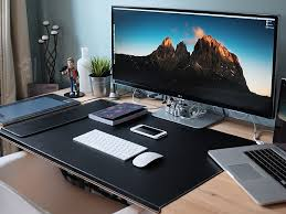 Laptop Desk Setup Wonderful Laptop Desk Setup Alluring Office Design Inspiration