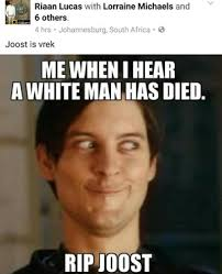 racist joost meme shocks news24