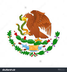 Mexican Flag Stencil Symbols Of The Snake In The Mexican Flag Clipart Clipground